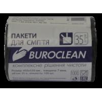Мешки для мусора 35 л х 100 шт 45 х 55 см 7 мкм (HD) BuroClean черные (10200021)