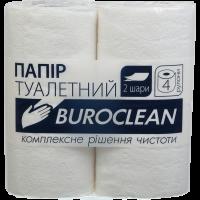 Бумага туалетная 2слойн Buroclean белая 4 рул