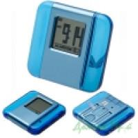 Часы настольные 90300384 (пластик, голубой)