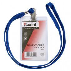 Бейдж вертикальный на шнурке Axent, 117 х 64 мм (размер вкладки 84 х 50 мм) (4506-A)