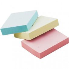 Блок стикеров 38 х 51 мм 100 шт BuroMax пастельный цвет ассорти (BM.2310-99)