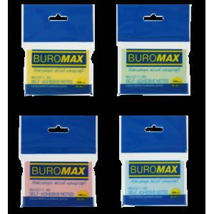 Блок стикеров 51 х 76 мм 100 шт BuroMax пастельный цвет, ассорти (BM.2311-99)