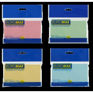 Блок стикеров 76 х 127 мм 100 шт BuroMax пастельный цвет, ассорти (BM.2314-99)