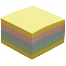 Блок стикеров 76 х 76 мм 450 шт Donau пастельный цвет, ассорти радуга (7589001S)