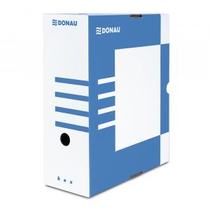 Бокс архивный картон 120 мм 297 х 339 мм Donau бело-синий (7661301PL-10)