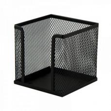 Бокс для бумаги 100 х 100 x 100 мм метал черный BuroMax (BM.6215-01)