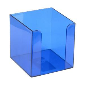 Бокс для бумаги 90 х 90 х 90 мм пластик синий Axent