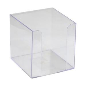 Бокс для бумаги 90 х 90 х 90 мм пластик прозрачный Axent (D4005-27)