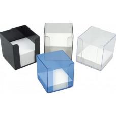 Бокс для бумаги 90 х 90 х 90 мм пластик черный Axent (D4005-01)