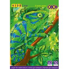 Бумага для акварели А3 200 г/м кв ZIBI 10 л (ZB.1981)