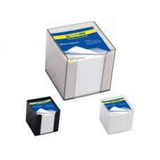 Бокс с бумагой 90 х 90 х 90 мм белая пластик Buromax (BM.2290-01)