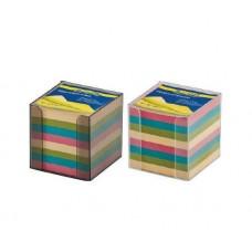 Бокс с бумагой 90 х 90 х 90 мм Buromax пластик цветная непроклеенная (BM.2291)