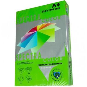 Бумага цветная А4 160 г/м кв Spectra Color 250 л насыщен зеленый (Parrot 230)