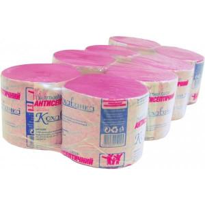 Бумага туалетная 1слойн Кохавинка розовая d-98/100 мм шир 90 мм 8 рул антисептическая