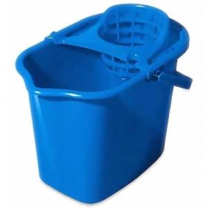 Ведро для уборки пластик 14 л с отжимом для швабры веревочной