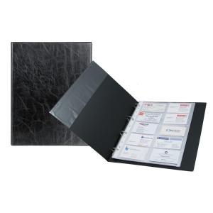 Визитница 200 виз искусств кожа на кольцах Axent Xepter 255 х 150 мм (A4) черная (2504-01-A)