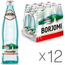 Вода минеральная сильногазир 0,5 л х 12 шт стекло Боржоми