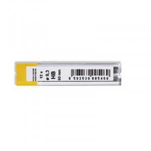 Грифели для механических карандашей 0,3 мм, HB, KOH-I-NOOR-4132, (12 шт)