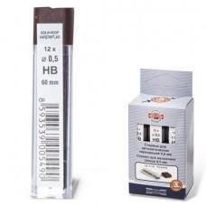 Грифели для механических карандашей 0,5 мм, HB, KOH-I-NOOR-4152 (12 шт)