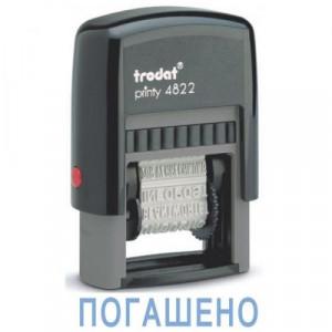 Штамп 4 мм TRODAT 4822 с 12-ю бухгалтерскими терминами