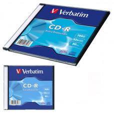 Диск CD-R 1 шт Slim VERBATIM, 700Mb/80min/48x (43347)