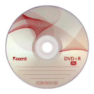 Диск DVD+R 10 шт Cake box Axent 8111, 4.7 GB/120 min 16x