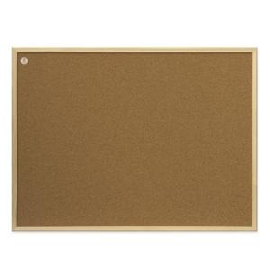 Доска пробковая 80 х 120 см 2х3 в деревянной рамке (TC128/C)