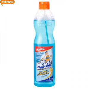 Жидкость для стекла 500 мл колпачек Мистер Мускул