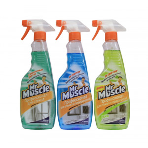 Жидкость для стекла 500 мл курок Мистер Мускул АССОРТИ