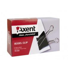 Зажим 15 мм черный Axent 12 шт/уп (4408-A)