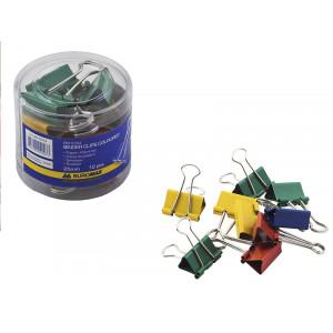 Зажим 25 мм цветной BuroMax 12 шт/уп (BM.5354)