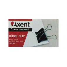 Зажим 19 мм черный Axent 12 шт/уп (4401-A)
