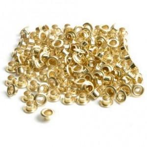 Заклепки 5,5 мм, цвет: золото, уп./1000 шт.