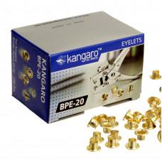 Заклепки-люверсы Kangaro BPE-20 (для ручного) 4,5 мм, золотые (250 шт)