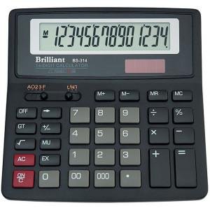 Калькулятор BRILLIANT BS-314 14 разр 155 x 155 x 15(35) мм