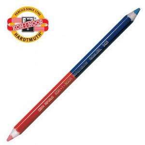 Карандаш цветной KOH-I-NOOR толстый (синий + красный) (3423)