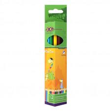 Карандаши цветные 12 цв х 12 шт ZIBI Comfort трехгранные (ZB.2405)