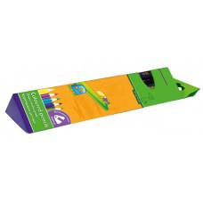Карандаши цветные 12 цв х 12 шт + точилка ZIBI JUMBO Comfort трехгранные (ZB.2407)