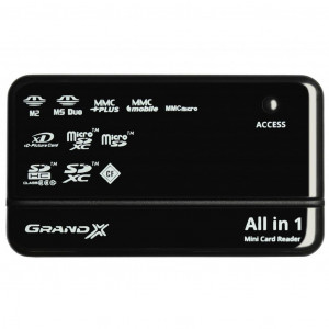 Кард-ридер Grand-X multi All-in-One 64Gb to 2Tb SDXC (CRX05Black)