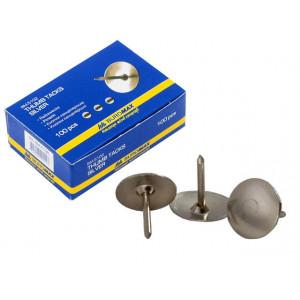 Кнопки канцелярские 100 шт BuroMax никелир (BM.5102)