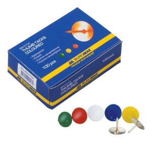 Кнопки канцелярские 100 шт BuroMax цветные (ВМ.5104)