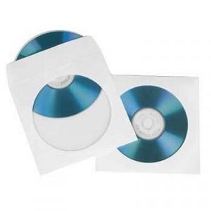 Конверт для CD/DVD дисков (127 х 127), d-100 мм, с окном, белый