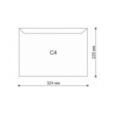 Конверт самокл C4 (229 х 324) 10 шт 90 г/м.кв белый