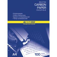 Копирка А4 синяя 100 л BuroMax (ВМ.2700)