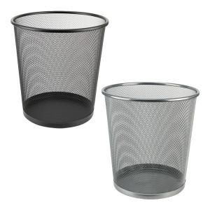 Корзина для мусора метал Axent (решетчатая-круглая) серебро (2119-03)