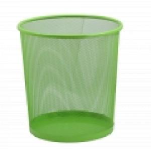 Корзина для мусора метал (решетчатая-круглая) салатовая (ZB.3126-15)