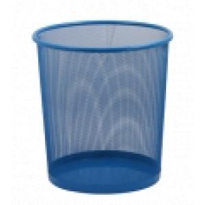 Корзина для мусора метал (решетчатая-круглая) синяя (ZB.3126)