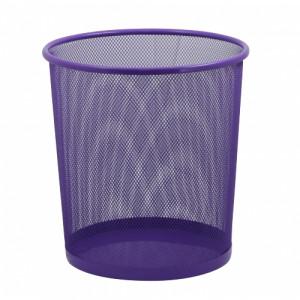 Корзина для мусора метал (решетчатая-круглая) фиолетовая (ZB.3126-07)