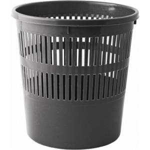 Корзина для мусора пластик 8 л (решетчатая-круглая) черная AXENT (D4007-01)