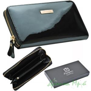 Кошелек кожаный Langres Glaze 19,3 х 10,3 х 2,1 см черный (LS.810300-01)